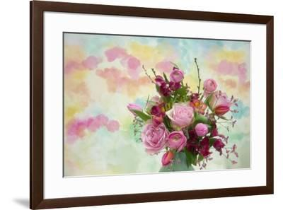 Bouquet and Watercolors-Cora Niele-Framed Giclee Print