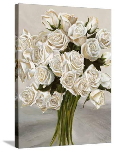 Bouquet Blanc II-Leonardo Sanna-Stretched Canvas Print