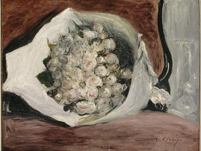 Bouquet dans une loge-Pierre-Auguste Renoir-Giclee Print