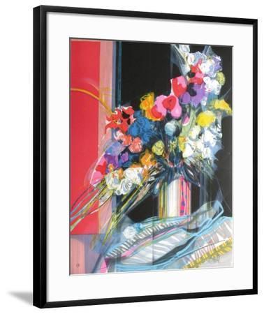 Bouquet de fleurs I-Jean-Baptiste Valadie-Framed Premium Edition