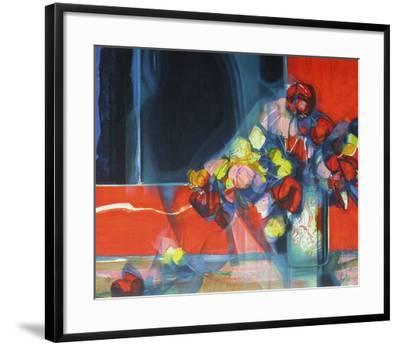 Bouquet de fleurs II-Jean-Baptiste Valadie-Framed Premium Edition