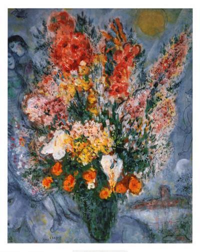 Bouquet de Fleurs-Marc Chagall-Art Print