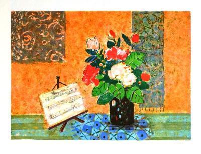 Bouquet et partition-Gilles Gorriti-Limited Edition