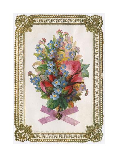 Bouquet, Flowers, Card--Giclee Print