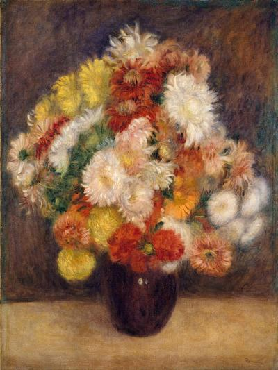 Bouquet of Chrysanthemums, 1881-Pierre-Auguste Renoir-Giclee Print