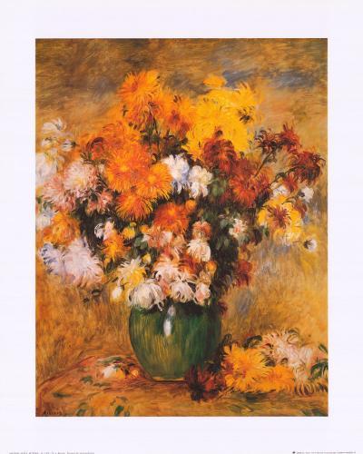 Bouquet of Chrysanthemums-Pierre-Auguste Renoir-Art Print