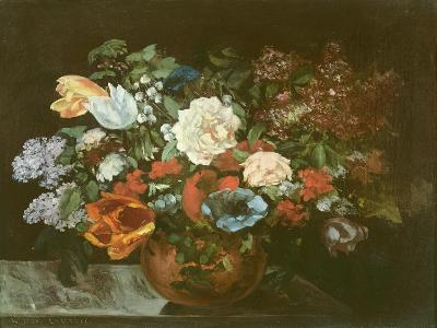 Bouquet of Flowers, 1863-Gustave Courbet-Giclee Print