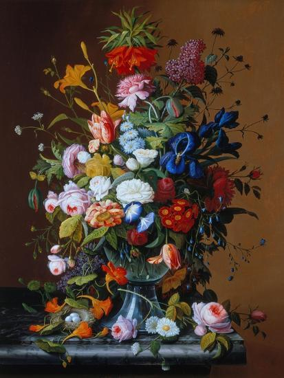 Bouquet of Flowers in a Glass Vase-George Cochran Lambdin-Giclee Print