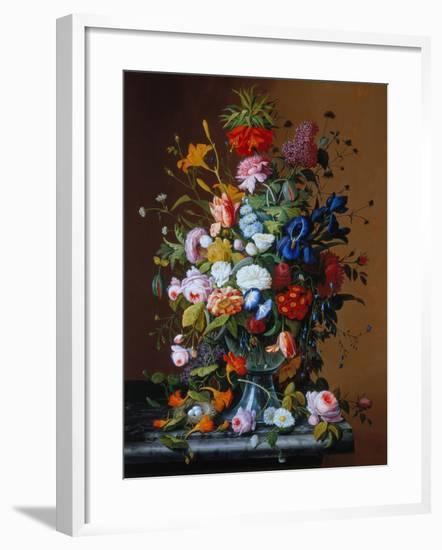 Bouquet of Flowers in a Glass Vase-George Cochran Lambdin-Framed Giclee Print