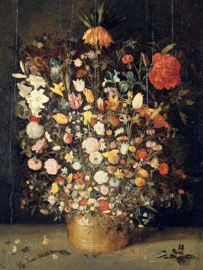 Bouquet of Flowers in a Wooden Vase, 1603-Jan Brueghel the Elder-Giclee Print