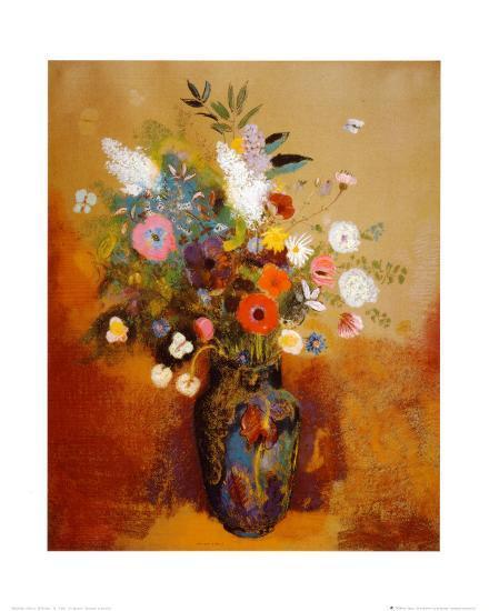 Bouquet of Flowers-Odilon Redon-Art Print