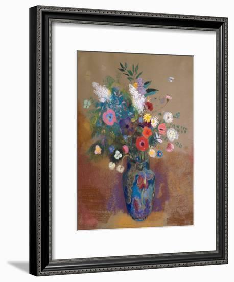 Bouquet of Flowers-Odilon Redon-Framed Art Print