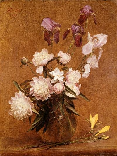 Bouquet of Peonies and Irises, 1883-Henri Fantin-Latour-Giclee Print