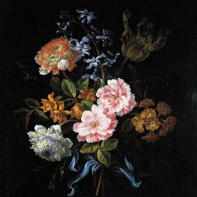 Bouquet of Poppy Anemones, Roses, Double Campernelle, Hyacinth, Tulip and Auricula-Jean-Baptiste Monnoyer-Giclee Print
