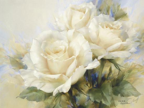 Bouquet Of White Roses-Igor Levashov-Art Print