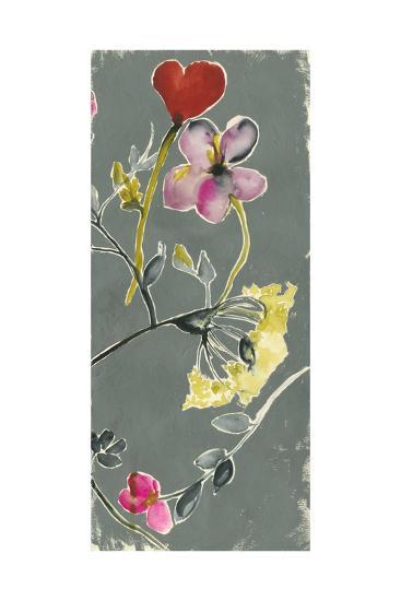 Bouquet on Grey IV-Jennifer Goldberger-Premium Giclee Print