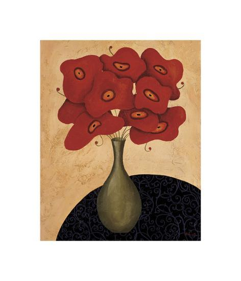 Bouquet Rouge-Jocelyne Anderson-Tapp-Giclee Print