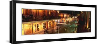 Bourbon Street, French Quarter, New Orleans, Louisiana--Framed Photographic Print