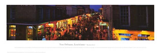Bourbon Street, New Orleans, Louisiana-James Blakeway-Art Print