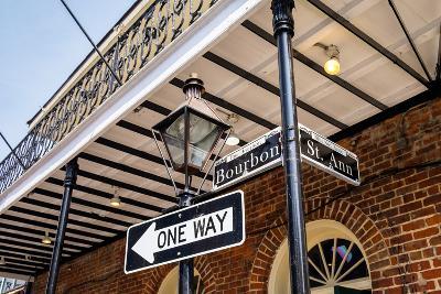Bourbon Street Sign-Fotoluminate LLC-Photographic Print