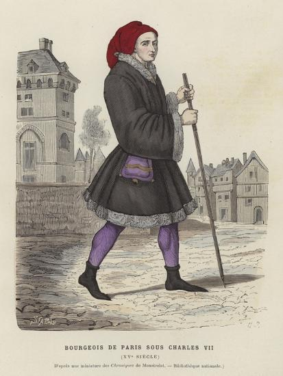 Bourgeois Parisian Man of the Reign of Charles VII, 15th Century--Giclee Print