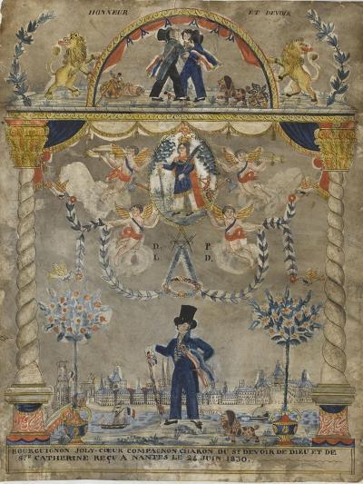 Bourguignon Loly coeur, compagnon charron du st devoir de Dieu et de sainte Catherine--Giclee Print