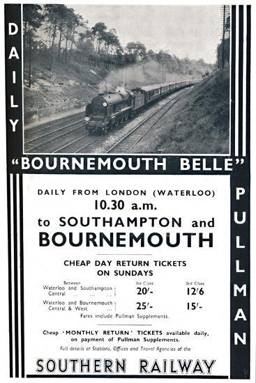 'Bournemouth Belle - Southern Railway', 1936-Unknown-Photographic Print