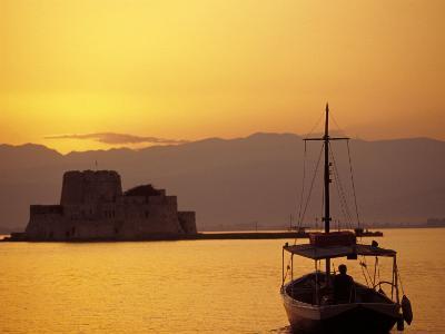 Bourtzi Island Fort, Nafplio, Peloponnesos, Greece-Walter Bibikow-Photographic Print