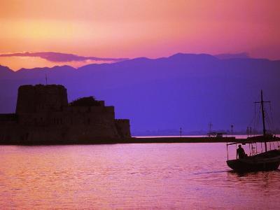 Bourtzi, Peloponnesos, Greece-Walter Bibikow-Photographic Print
