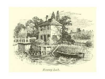 Boveney Lock--Giclee Print