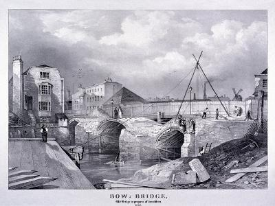Bow Bridge, Bow, Poplar, London, 1835--Giclee Print