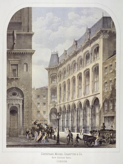 Bow Churchyard, London, C1860-Andrew Maclure-Giclee Print