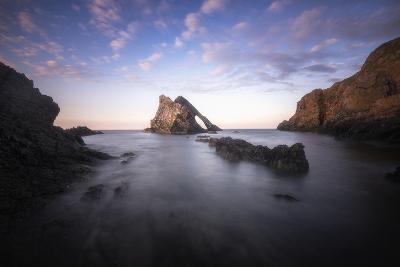 Bow Fiddle Rock In Scotland Sea-Philippe Manguin-Photographic Print