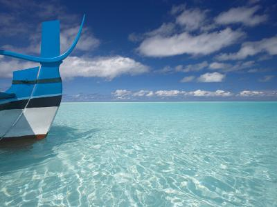 Bow of Boat in Shallow Water, Maldives, Indian Ocean-Papadopoulos Sakis-Photographic Print