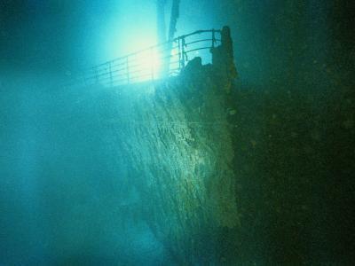 Bow Railing of R.M.S. Titanic-Emory Kristof-Photographic Print