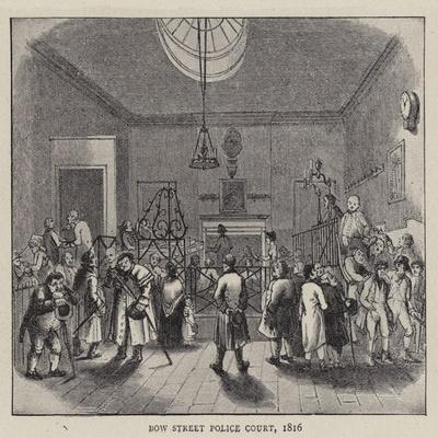 Bow Street Police Court, 1816--Giclee Print