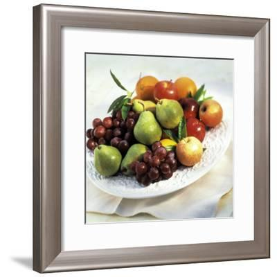 Bowl of Assorted Fruit-James Carriere-Framed Photographic Print