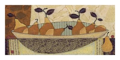 Bowl of Pears-Penny Feder-Art Print
