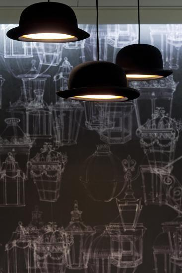 Bowler Hats as Light Fittings-David Barbour-Photo