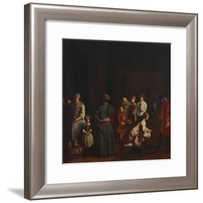 Bowling - from a Series of Four Paintings Showing People at Leisure, 18th Century--Framed Giclee Print