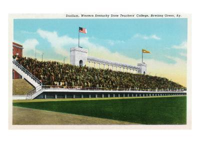 Bowling Green, Kentucky - Western Kentucky State Stadium View-Lantern Press-Art Print