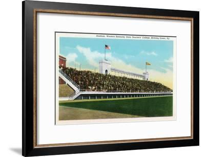 Bowling Green, Kentucky - Western Kentucky State Stadium View-Lantern Press-Framed Art Print
