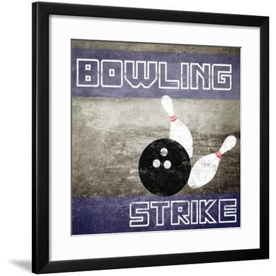 Bowling Strike-Veruca Salt-Framed Art Print