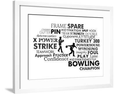 Bowling Text-Veruca Salt-Framed Art Print