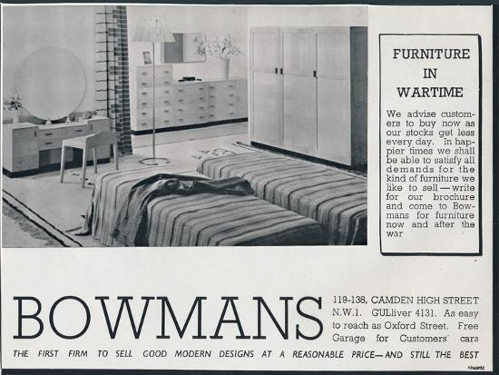 Bowmans advertisement, 1942-Unknown-Photographic Print