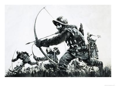 Bowmen at the Battle of Bannockburn-Graham Coton-Giclee Print