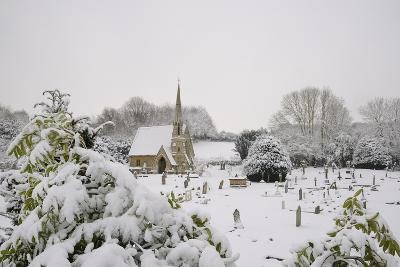 Box Cemetery Chapel after Heavy Snow, Box, Wiltshire, England, United Kingdom, Europe-Nick Upton-Photographic Print