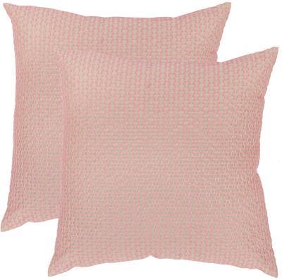 "Box Stitch Pillow Pair - Pink 20"""