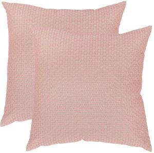 Box Stitch Pillow Pair - Pink 20""