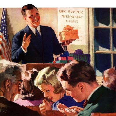 """Box Supper Night,""January 1, 1941--Giclee Print"